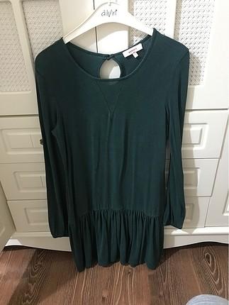 Koyu yeşil elbise
