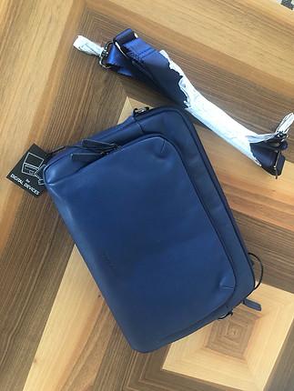 MAVİ DERİ 11 inç notebook çantası