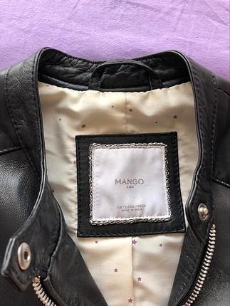Mango kız çocuğu deri mont