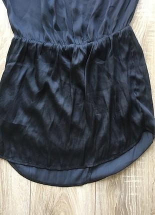 36 Beden siyah Renk mini saten elbise