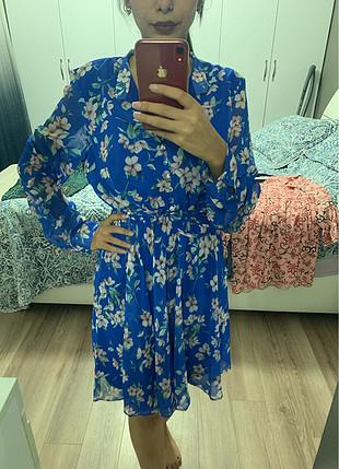 40 Beden Çiçekli rahat elbise