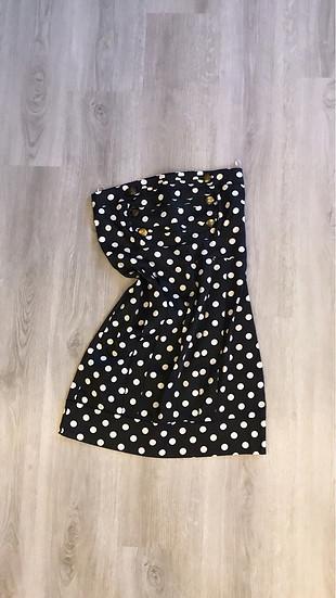 Mini Puantiyeli Elbise