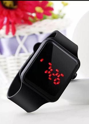 Siyah Silikon Apple Watch Saat