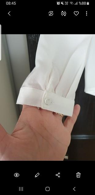 m Beden beyaz Renk temiz defosuz 1 kez giyildi bluz