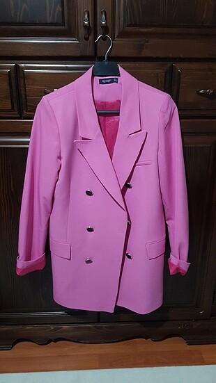 Pembe blazer ceket