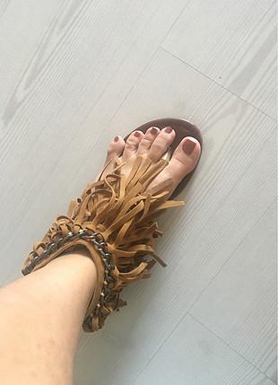Bambi taba rengi sandalet