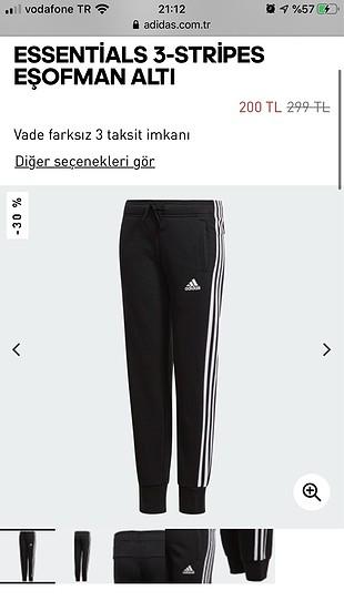 Orijinal Adidas etiketli sıfır eşofman altı