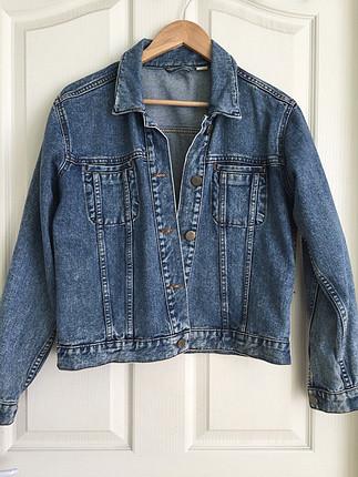 Vintage yıkama jean ceket