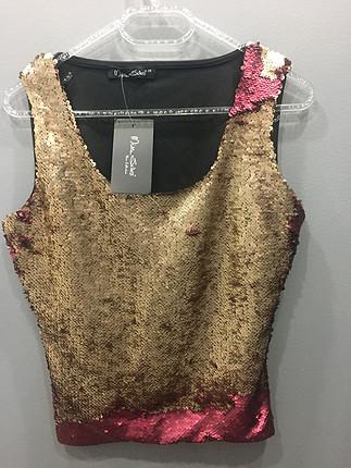 Zara Değişen payetli bluz