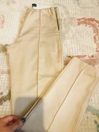 Fermuarlı tayt pantolon