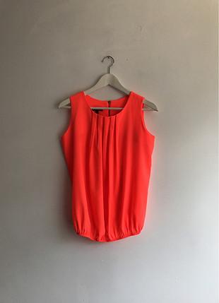 Neon turuncu Bluz