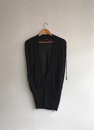 Siyah simli bluz