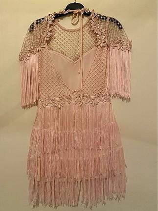 36 Beden pembe Renk Kına Elbisesi