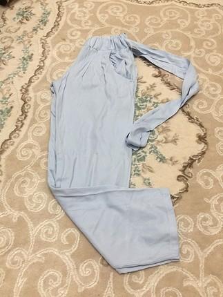 Mavi kumas pantolon