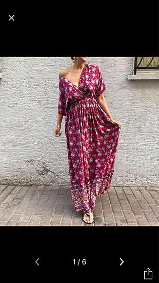 Uzun yazlık tril tril elbise