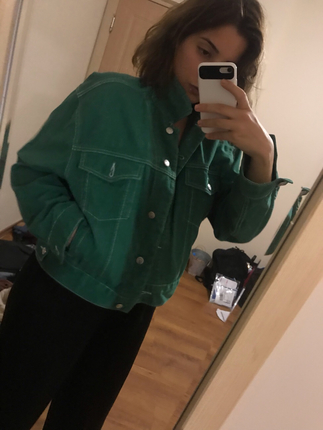 Yeşil kot ceket