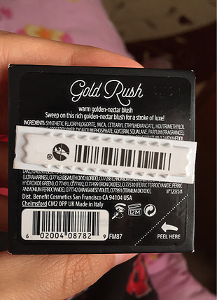 Benefit gold rush allık
