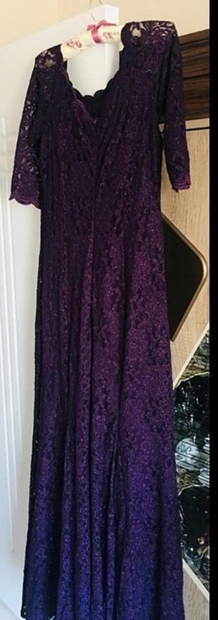 mor abiye elbise