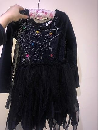 7.8yaş pelerınli örümcek kadın kostümü