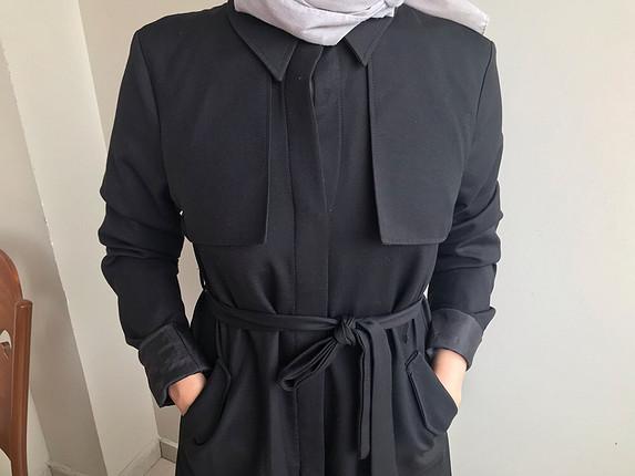 Siyah Uzun Trençkot