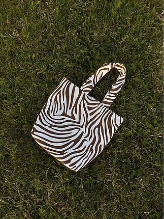 American Vintage Zebra desenli çanta