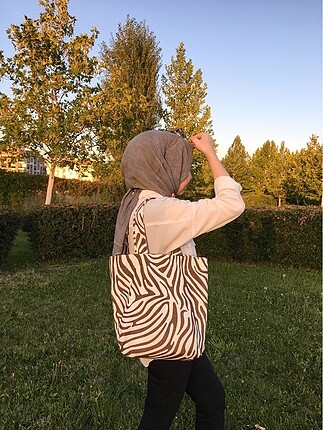 Beden Zebra desenli çanta