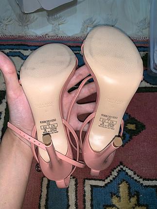 Zara pudra pembe topuklu ayakkabi