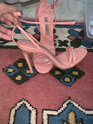 38 Beden Zara pudra pembe topuklu ayakkabi
