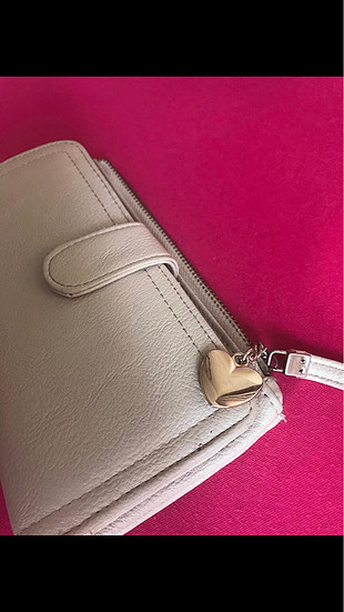 Carpisa krem rengi cüzdan