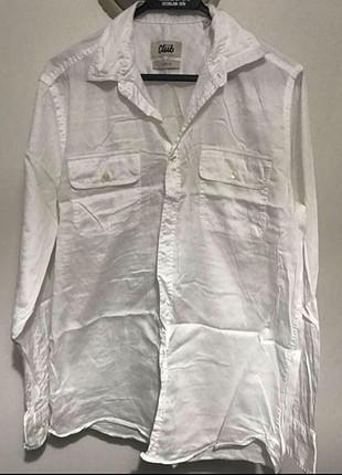 m Beden beyaz Renk Slim fit erkek beyaz gömlek