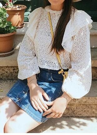 Zara dantel bluz