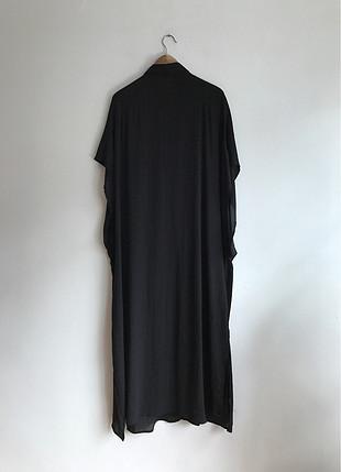 Sıfır kol uzun ince elbise