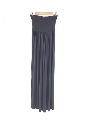 Uzun Straplez Elbise