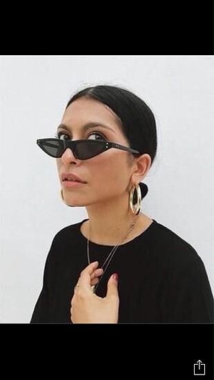 Cat eye vintage retro güneş gözlüğü