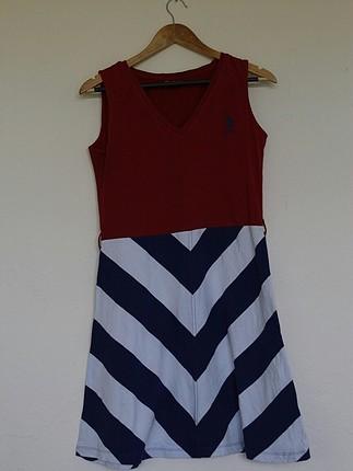 US Polo marka midi elbise