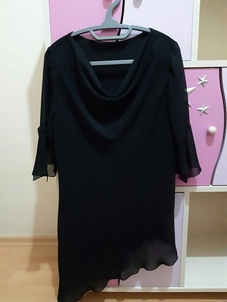 siyah şifon bluz
