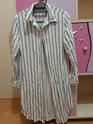 uzun çizgili gömlek