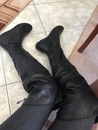 Deri uzun çizme
