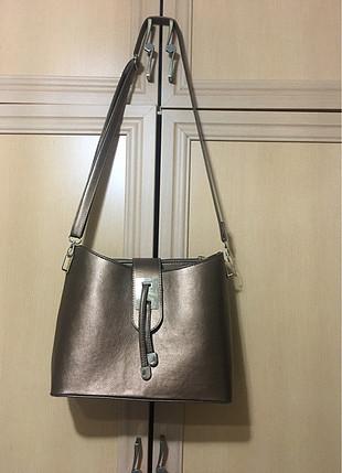 xl Beden bronz Renk bakır renk askılı çanta