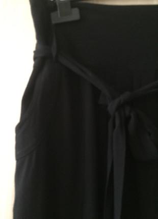 m Beden siyah Renk Midi boy etek
