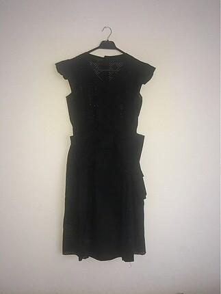 Machka orijinal siyah dantel detaylı şık elbise