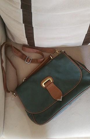 koyu yeşil kahve çapraz askılı zarf evrak çanta