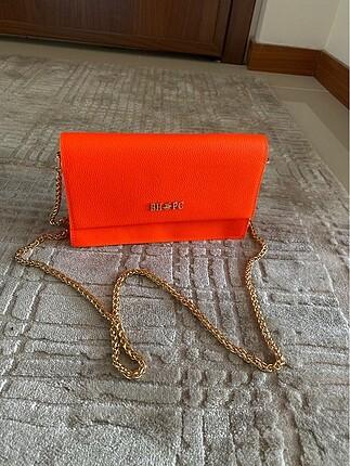 Neon turuncu Polo orjinal çanta