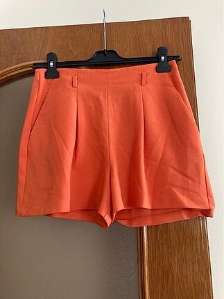 Orjinal miss selfiridge turuncu renk tarz şort