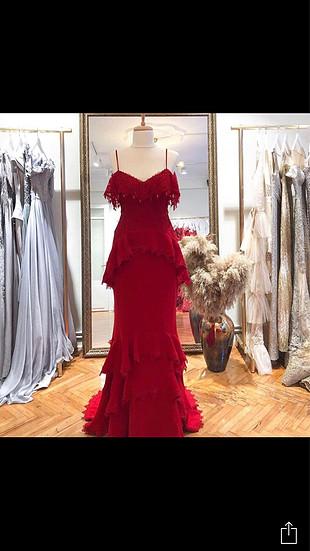 Kına elbisesi kırmızı