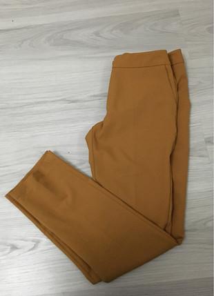 Kumaş Hardal rengi Pantolon