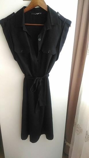 Ng Style Siyah Diz Altı Elbise