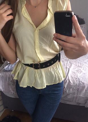 Sarı gömlek bluz