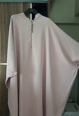 pudra pembe tesettür elbise