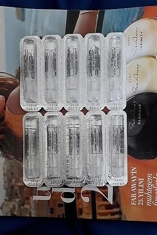 10 adet çeşitli numunelik parfüm